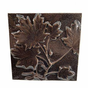 Maple Leaf Copper Tone Wall Tile Arts and Crafts